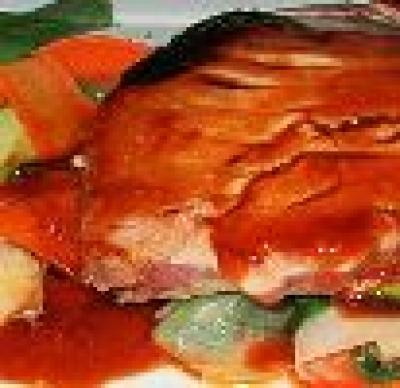 Риба на пара с моркови