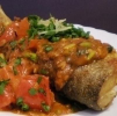 Риба с къри и бяло вино