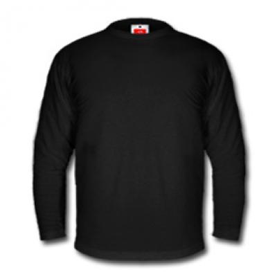 Мъжка блуза с дълъг ръкав - черна