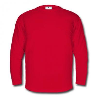 Мъжка блуза с дълъг ръкав - червена