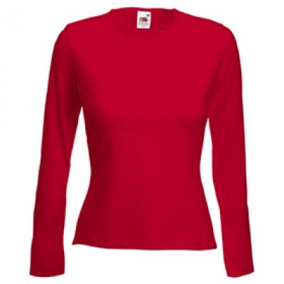 Ватена блуза - червена