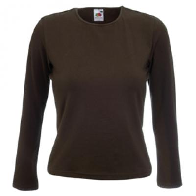 Ватена блуза - шоколад