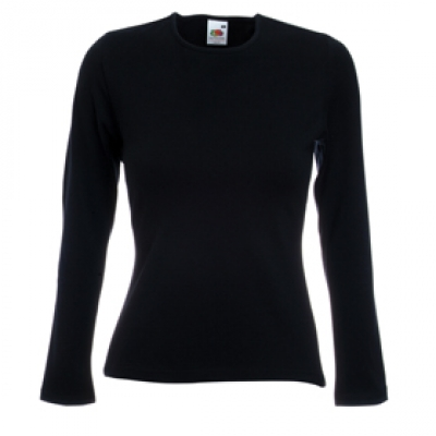 Ватена блуза - черна