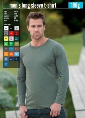 Мъжки тениски KEYA 180гр дълъг ръкав