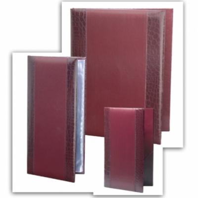 МЕНЮ - СТИЛ - Кожена меню- папка СТИЛ в цвят бордо