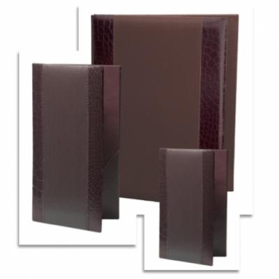МЕНЮ - СТИЛ - Кожена меню- папка СТИЛ в цвят кафяв