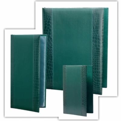 МЕНЮ - СТИЛ - Кожена меню- папка СТИЛ в цвят зелен