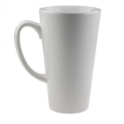 Бяла, голяма конусовидна чаша за пълноцветен печат