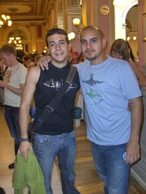 със Victor Peréz от Hacha y Machete