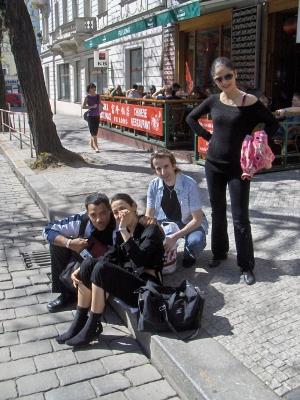 Monika, Angel Ortiz, Alex & Flo
